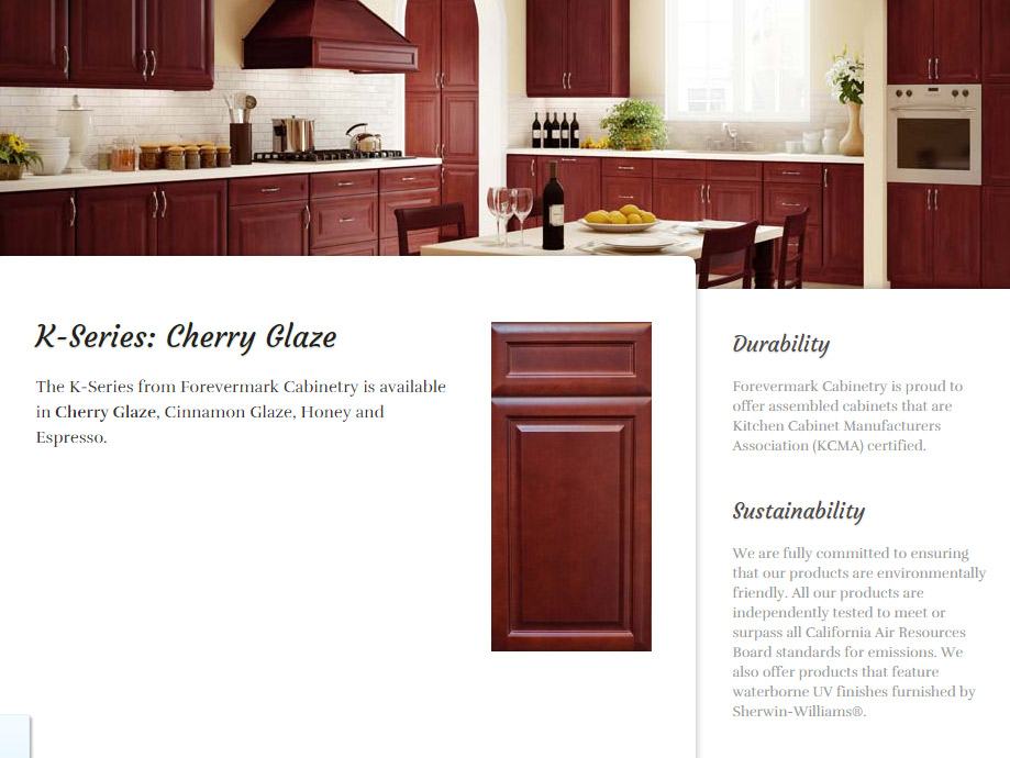 quality granite and cabinets forevermark cherry glaze