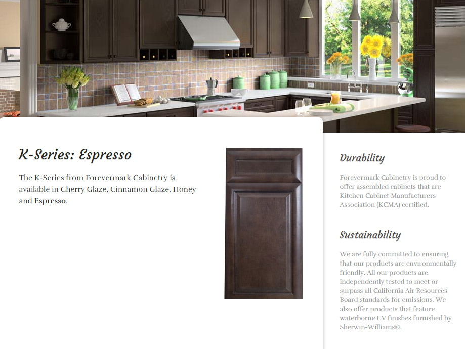 quality granite and cabinets forevermark cinnamon espresso