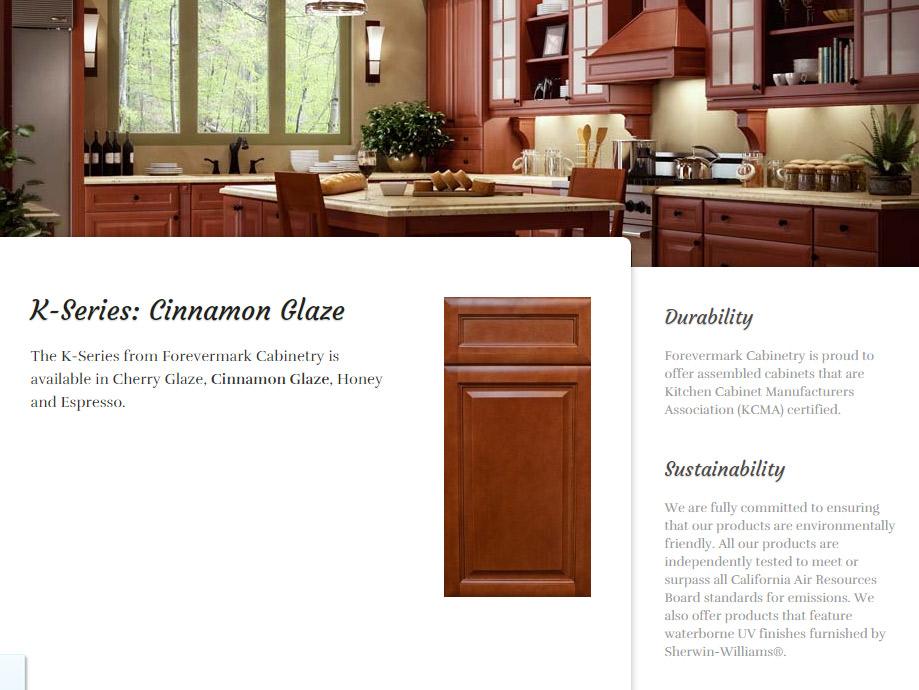 ... quality granite and cabinets forevermark cinnamon glaze ...