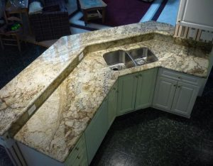 sienna bordeaux granite-island