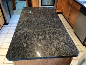 steel grey granite-island