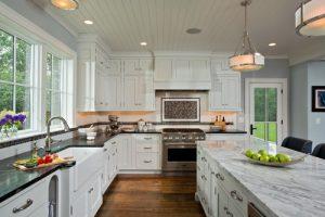 super white quartzite-kitchen