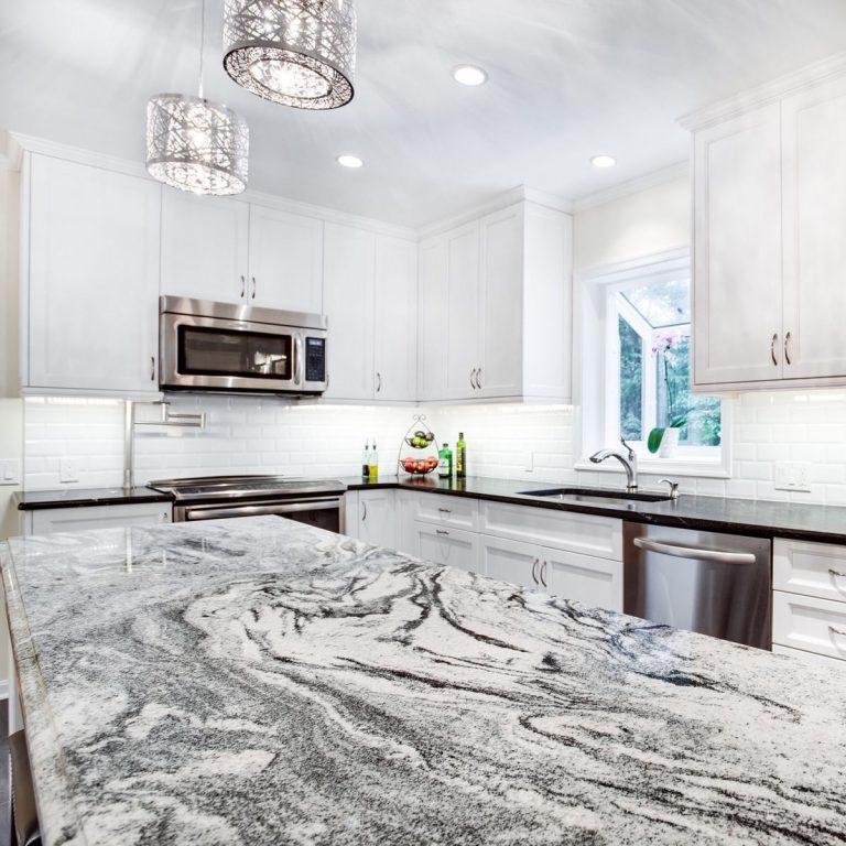 viscon white granite-ktichen