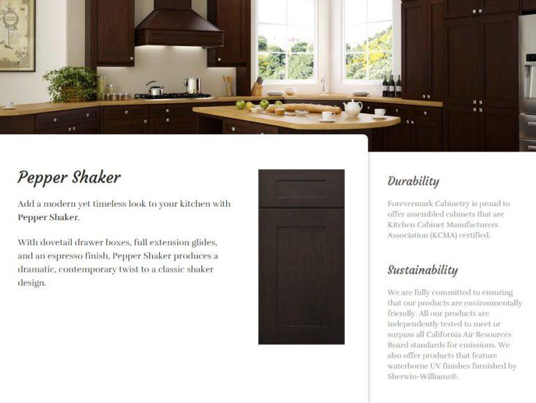quality granite and cabinets forevermark pepper shaker
