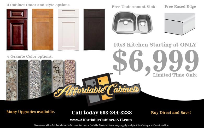 Affordable Kitchen Remodel - Quality Granite & Cabinets NH