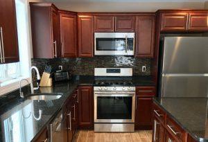 Coffee Brown Granite K-Cherry Glaze cabinetry Mont Vernon NH kitchen