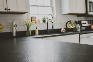 Black granite countertops honed finish NH ME MA VT